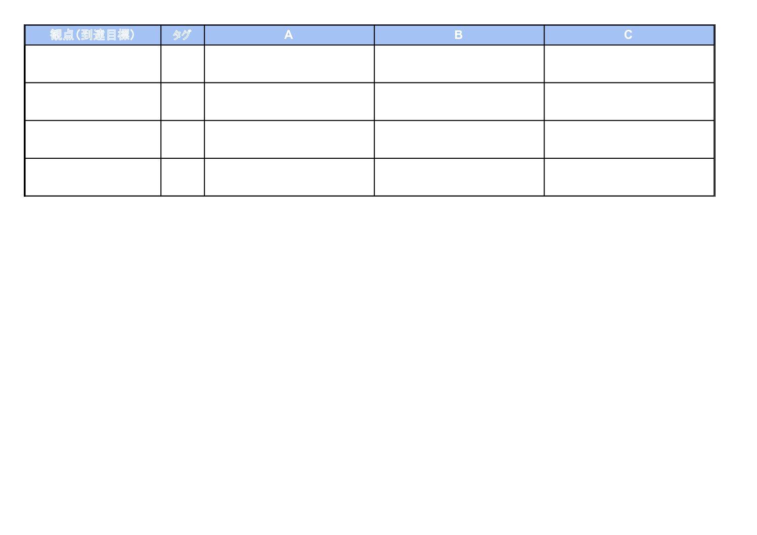 3.ルーブリック評価表